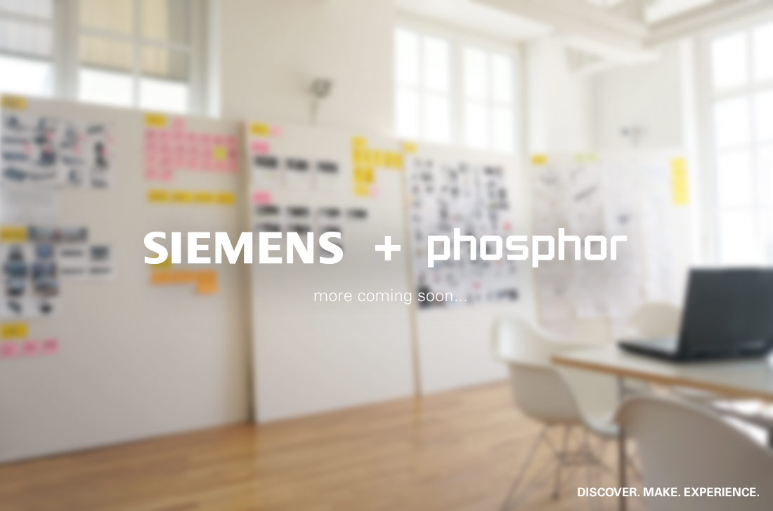</p> <h4>SIEMENS / MORE COMING SOON!</h4> <p>&nbsp;</p> <h5>We are excited to announce our new collaboration with Siemens. Together we have been working on new solutions for their Digital Factory Division / Technology and Innovations department.</h5> <p>